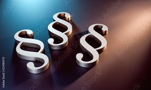 3D Illustration Paragraphen - 224184751