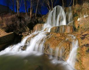 nice waterfall in night time