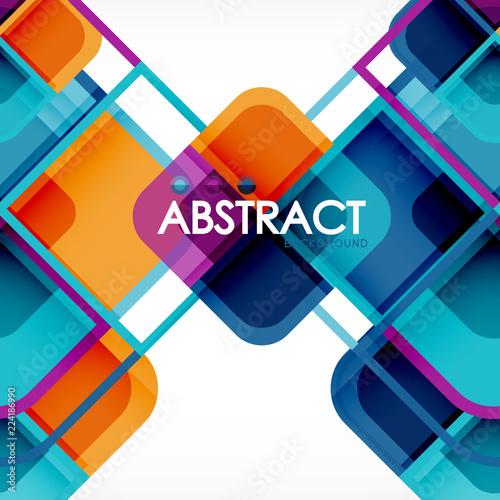 Kwadratowy geometryczny abstrakcjonistyczny tło, papierowy sztuka projekt dla okładkowego projekta, książkowy szablon, plakat, cd okładkowa ilustracja