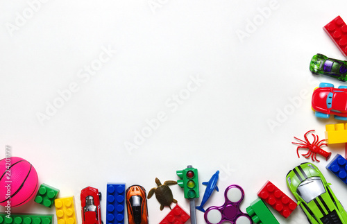 toys collection isolated on white