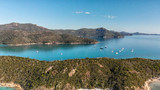Aerial view of Whitehaven Beach from Hill Inlet on a sunny morning, Queensland - Australia - 224206356