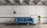 Old room with blue sofa - 224213531
