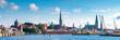 Leinwanddruck Bild - Panorama von Lübeck