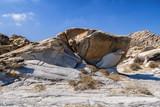 Famous Kolimbitres beach and big stones in Paros, Greece. - 224244949