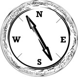 BLACK AND WHITE COMPASS - 224247311