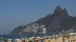 Quadro Leblon Beach and Vidigal slum in the background, Rio de Janeiro Brazil.