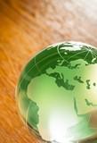 Glass Green Globe - 224272703
