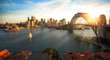 Leinwanddruck Bild - Sydney harbour and bridge in Sydney city