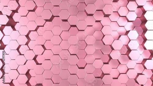 rozowa-szesciokat-3d-abstrakcyjna-animacja-bezszwowa-petla