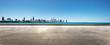empty ground with skyline - 224299508