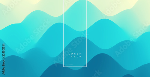 Abstract wavy background with dynamic effect. Vector illustration. Can be used for advertising, marketing, presentation.