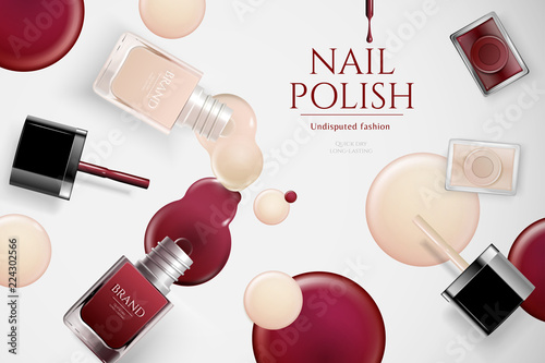 Fashion nail lacquer ads - 224302566