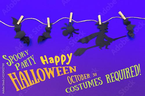 Leinwandbild Motiv Halloween holiday concept