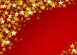 Festive horizontal Christmas background with copy space. Text and golden stars