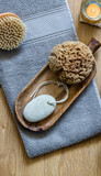 natural sponge, footcare object and brush for minimalist bodycare - 224317950