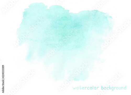 Abstract soft watercolor on white background. Green color. - 224333389