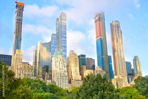 Growing skyscrapers at Central Park in midtown Manhattan, New York