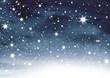 Leinwanddruck Bild - Sternenhimmel auf Aquarell