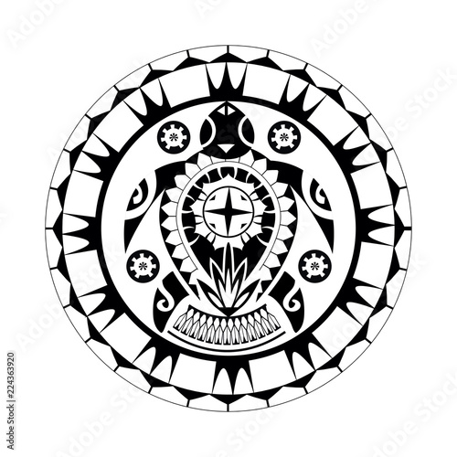 9e327a62f Maori / Polynesian Turtle Tattoo Style Ornament - Ready for Print and used  for Stencyl as