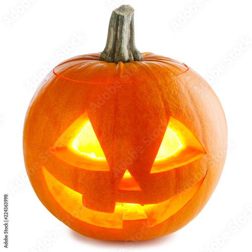 Foto Murales Halloween Pumpkin on white