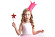 Leinwandbild Motiv Candy princess girl with magic wand