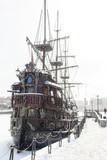 The old wooden ship in Gransk on Moltwa