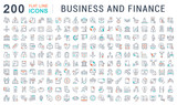 Set Vector Line Icons of Business and Finance. - 224375114