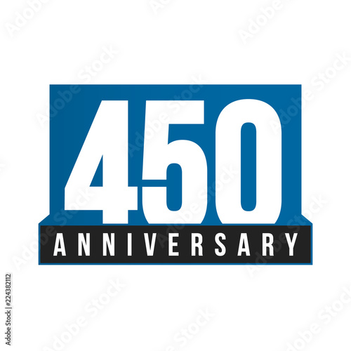 450th Anniversary Vector Icon Birthday Logo Template Greeting Card