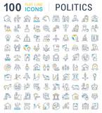 Set Vector Line Icons of Politics. - 224383721