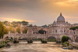 St Peters Basilica and the Angels Bridge