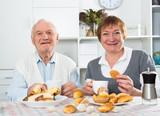 Aged couple enjoying evening - 224397759