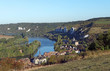 Seine river hills and chateau Guaillard village - 224400381
