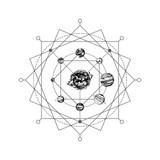 Solar system sacred geometry - 224436789