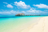 Overwater bungalow in the Indian Ocean - 224437707
