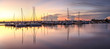 Quadro Sunrise over a quiet harbor in old Naples, Florida
