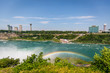 Niagara waterfall in summer view across the border