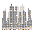 City skyline building pixels  illustration vector - 224462902