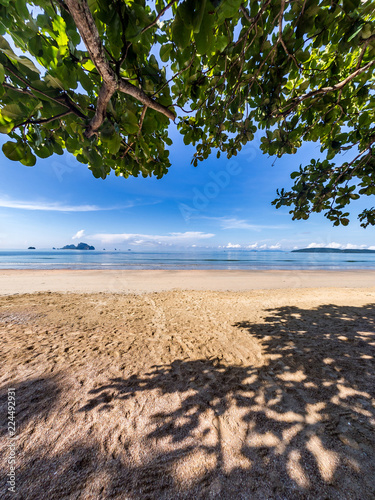Leinwandbild Motiv Seascape of Ao Nang beach travelling at Krabi