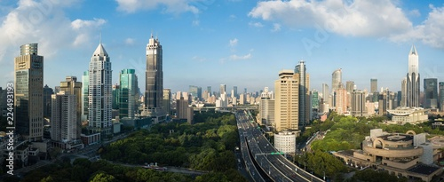 Skyline of urban Shanghai city in the morning - 224493193