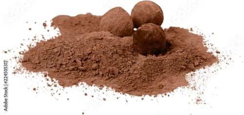 Leinwanddruck Bild Chocolate truffles