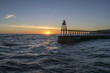 Quadro Whitby North Yorkshire East Pier Sunrise