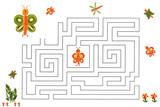 Funny maze game for Preschool Children. Illustration of logical education for children of preschool age. - 224536156