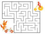 Funny maze game for Preschool Children. Illustration of logical education for children of preschool age. - 224536193