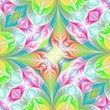 Flower pattern in fractal design. Artwork for creative design, art and entertainment. - 224537171
