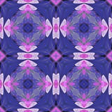 Multicolored floral pattern in stained-glass window style. You can use it for invitations, notebook covers, phone cases, postcards, cards, wallpapers. Artwork for creative design. - 224540399