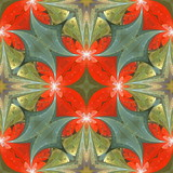 Floral pattern in stained-glass window style. You can use it for invitations, notebook covers, phone cases, postcards, cards, wallpapers and so on. Artwork for creative design. - 224542104
