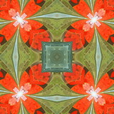 Floral pattern in stained-glass window style. You can use it for invitations, notebook covers, phone cases, postcards, cards, wallpapers and so on. Artwork for creative design. - 224542732