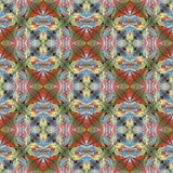 Multicolored floral pattern in stained-glass window style. You can use it for invitations, notebook covers, phone cases, postcards, cards, wallpapers and so on. Artwork for creative design. - 224544197