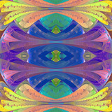 Multicolored abstract pattern in stained glass window style. You can use it for invitations, notebook covers, phone cases, postcards, cards, wallpapers and so on. Artwork for creative design. - 224545521