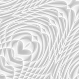 White and light grey futuristic pattern. Monochromatic design for backgrounds, templates, backdrops, surface, textile and fabric designs. 3d render illustration - 224546574